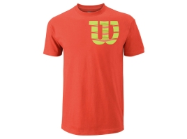 Wilson SHOULDER W COTTON TEE hot coral.jpg