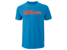 Wilson SCRIPT COTTON TEE deep water.jpg